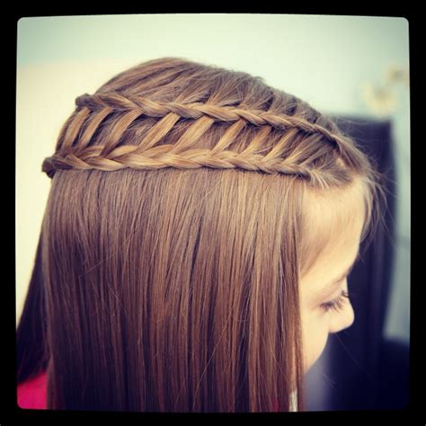 Feather Waterfall Braid Combo Hairstyle