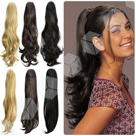 hairstyles with one piece extensions 22 quot inch bandage styles ponytail curly flick hair piece