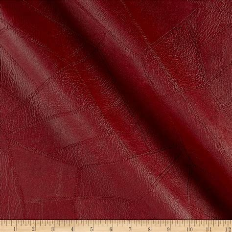 Where To Buy Leather Upholstery Fabric by Faux Leather Patchwork Burgundy Discount Designer Fabric