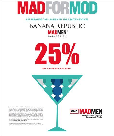 Banana Republic Coupon In Store Printable