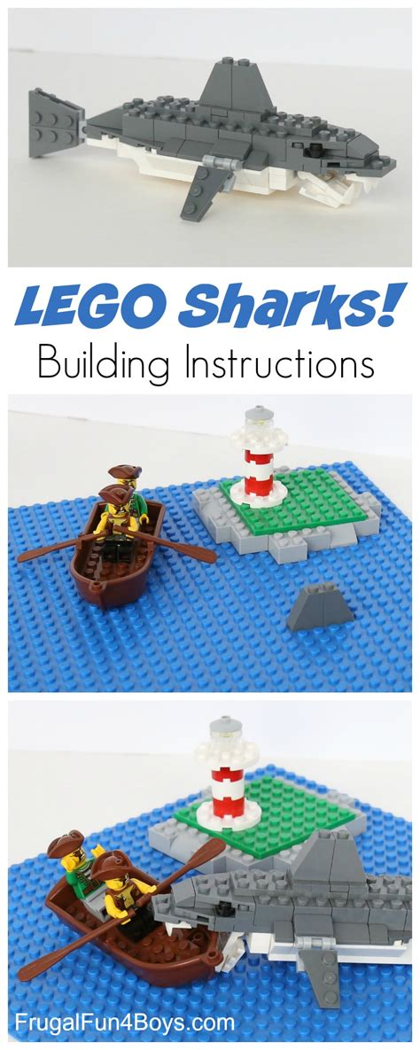 lego boat and shark how to build an awesome lego shark frugal fun for boys