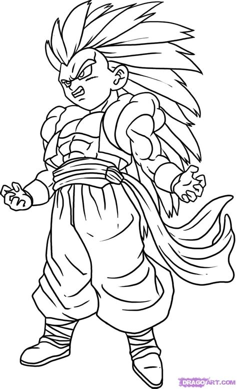 how to draw doodle character z characters drawings how to draw gotenks