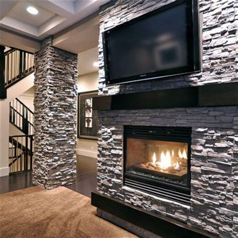 Fireplace Mantel Height With Tv Above by Best 25 3 Sided Fireplace Ideas On Modern