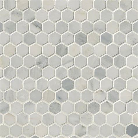 arabescato carrara marble 1 quot hexagon honed tile mosaics