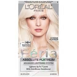 platunum hair dye the counter l oreal feria absolute platinum extreme platinum