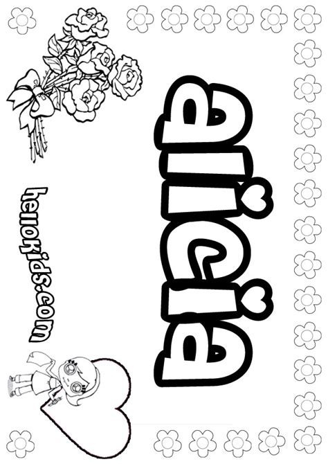 Alicia Coloring Pages Hellokids Com Name Coloring Pages To Print Out