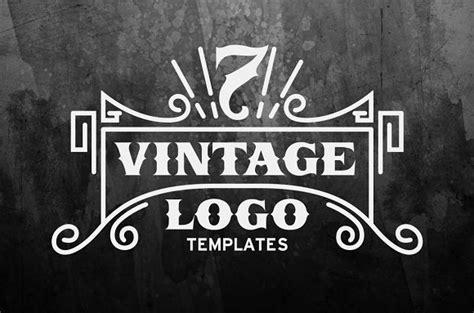 7 Vintage Logo Templates Logo Templates Creative Market Vintage Logo Template