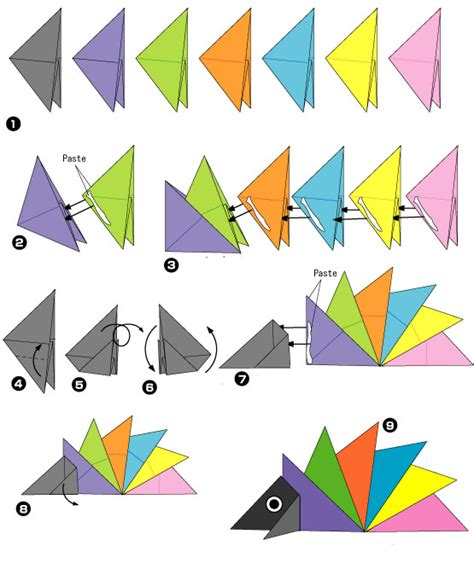 cara membuat origami senjata ninja origami egel2 origami egel vouwen thema herfst
