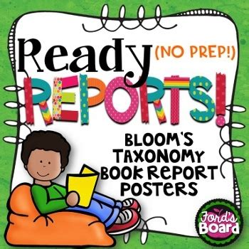 bloom book report bloom s taxonomy book report posters by ford s board tpt