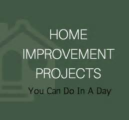home improvement projects you can do in a day the real