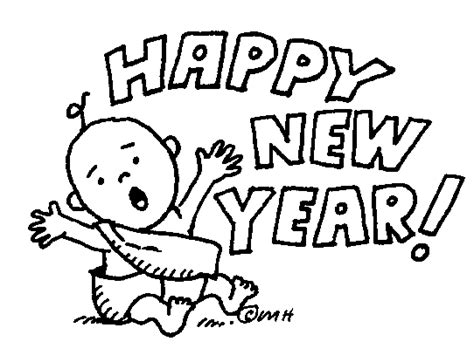 new year clipart black and white pics for gt happy clip black and white