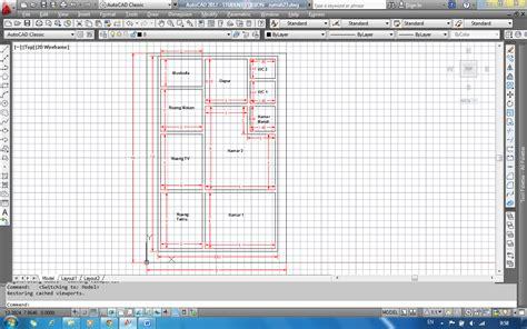 membuat jaringan rumah kompeter jaringan tutorial autocad membuat denah rumah