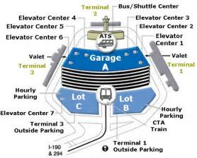 Chicago O Hare Parking Map by Chicago Ord Airport Parking Submited Images