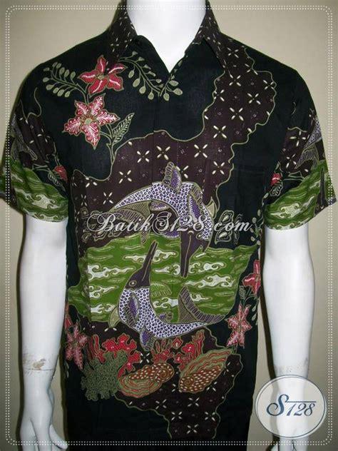 Batik Tulis Pria Motif Ikan baju batik exclusive dan unik motif ikan lumba lumba