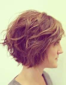 Side curly wavy bob hairstyle for thick hair pinterest
