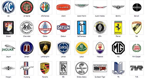 american car logos and names list image gallery logo names and symbols