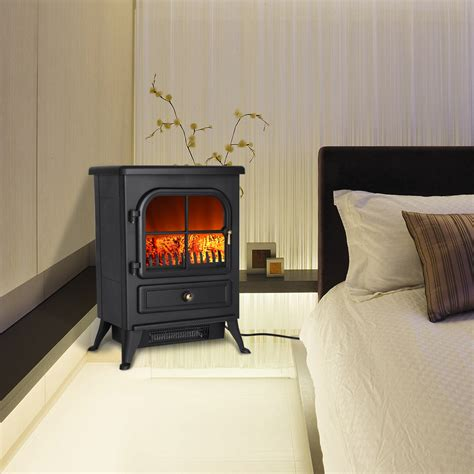 Electric Heater Fireplace Logs by 1500w Free Standing Electric Fireplace Stove Heater