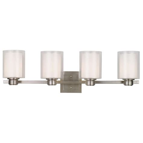 Home Depot Bathroom Design Tool by Design House Oslo 4 Light Brushed Nickel Vanity Light