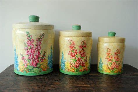 vintage metal kitchen canisters vintage metal kitchen canisters