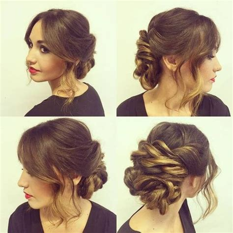 medium length hairstyles for thick hair updo 60 easy updos for medium length hair