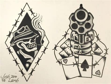 smokin guns tattoo smokin gun traditional