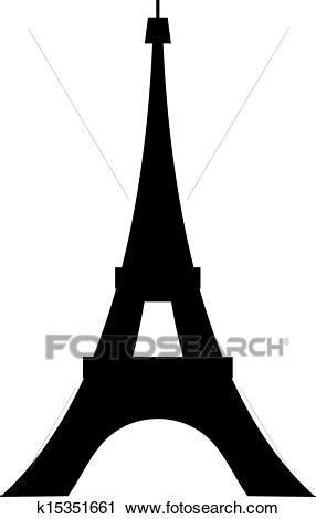 Paris, torre eiffel, desenho Clipart k15351661
