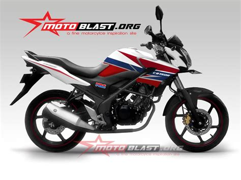 modif striping cb150r new rwb 2014 motoblast
