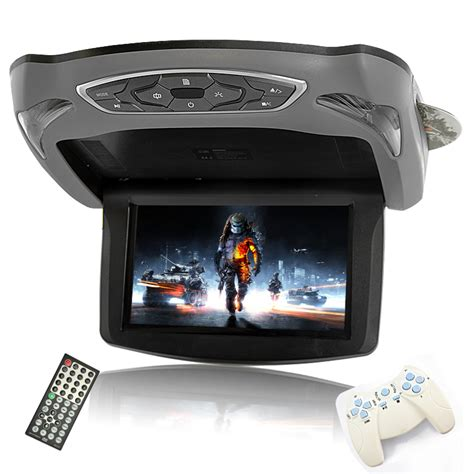 Lcd Monitor Roof 13 3 lcd flip car roof mount monitor with dvd player fm transmitter and ir transmitter