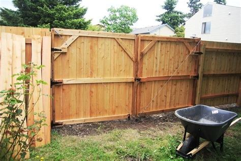how to build a double swing wooden gate wooden privacy fence gates how build double gate for