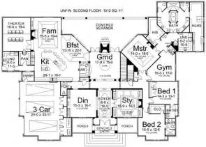 luxury house plans one story luxury style house plans 5194 square foot home 1 story