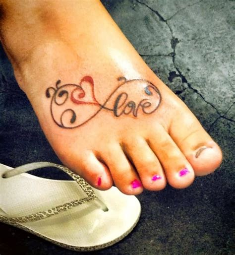 small infinity tattoo on foot 30 best infinity foot tattoos for images on