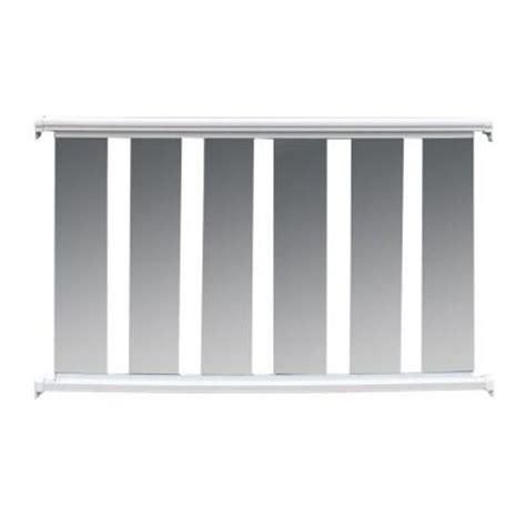 Banister Railing Home Depot by Ez Handrail 6 Ft X 36 In White Aluminum Frame Glass