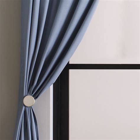 drapery hold back metal pin holdbacks modern curtain rods by west elm