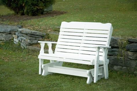 amish bench plans amish curve back poly wood glider bench