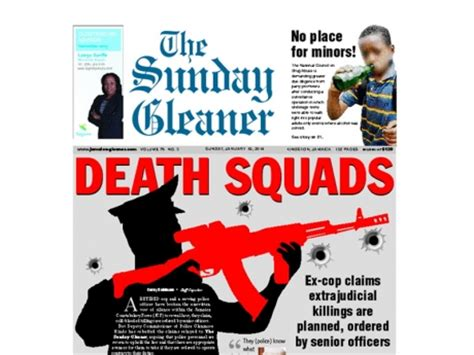 career section of the sunday gleaner amnesty international reacts to reports of police death