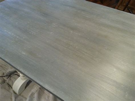 how to clean zinc table top faux zinc table top done in sloan chalk paint