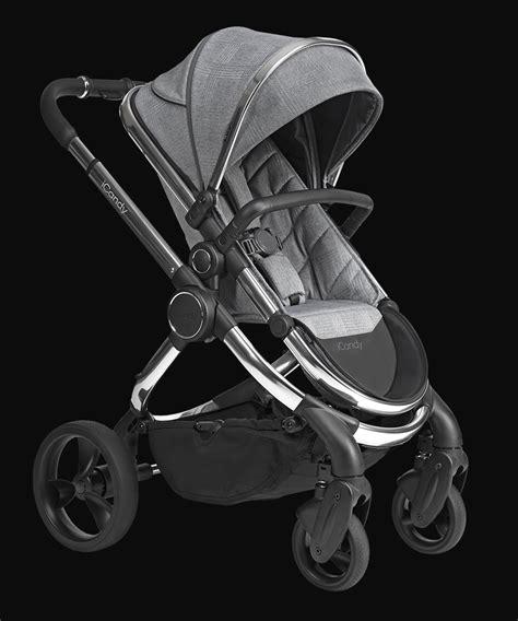 peach pushchair  carrycot chrome light grey check