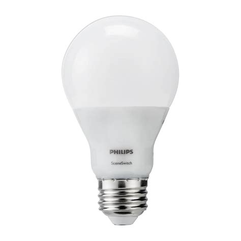 Philips 60w Equivalent Daylight Sceneswitch A19 Led Light Led Light Bulb Pack