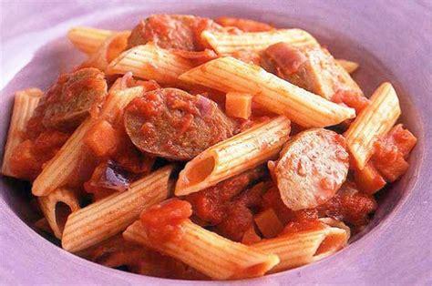 pasta sausage sausage and tomato pasta recipe goodtoknow