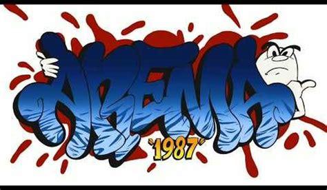 gambar arema fc logo grafiti aremania wallpaper keren