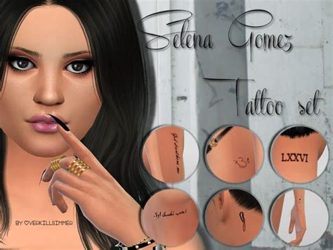 selena gomez tattoos sims 4 cc s the best selena gomez set by
