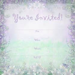 free printable invitations enchanted garden summer announcement
