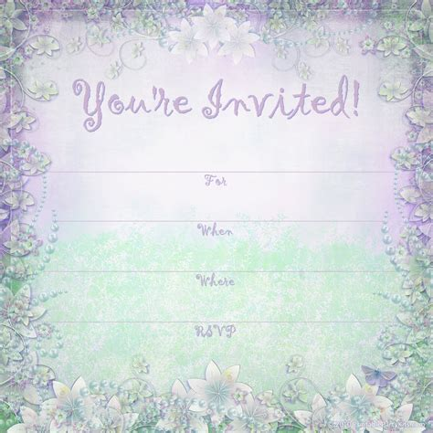 celebration invitation templates free free printable invitations enchanted garden summer