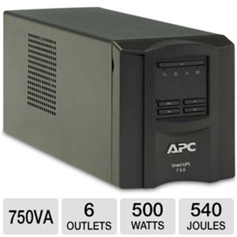 Apc Universal Battery Adds 6 Hours Of To Your Laptop by Apc Smart Ups 750 Lcd Ups Ac 120 V 500 Watt 750 Va