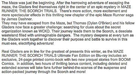 maze runner book report maze runner the scorch trials likes this