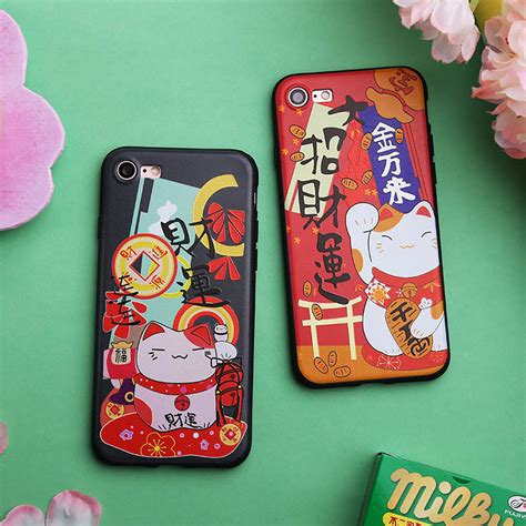 Maneki Neko 0008 Casing For Iphone 7 Plus Hardcase 2d buy wholesale japanese lucky cat from china japanese lucky cat wholesalers aliexpress