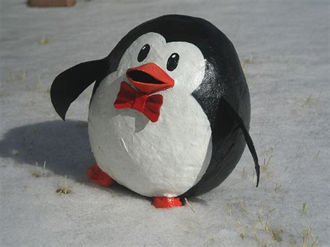 How To Make A Paper Mache Penguin - penguin bank so i ve been with paper mache