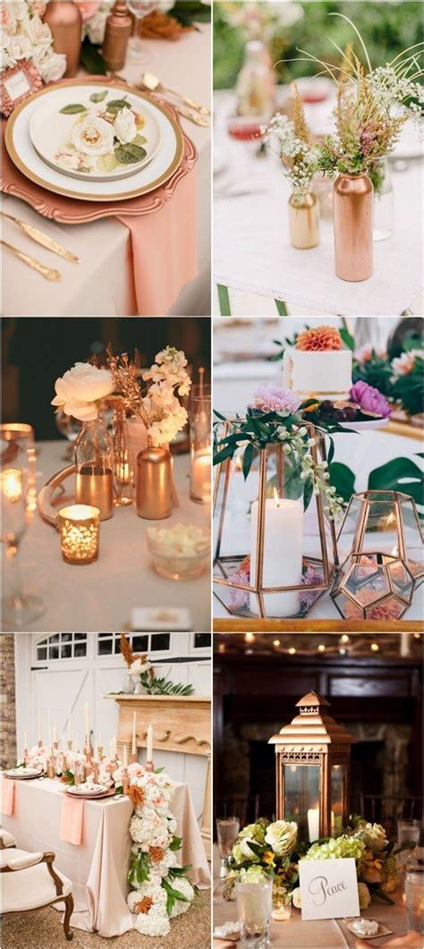 theme rose gold 50 amazing vintage bronze copper wedding color ideas