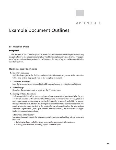 appendix a exle document outlines information