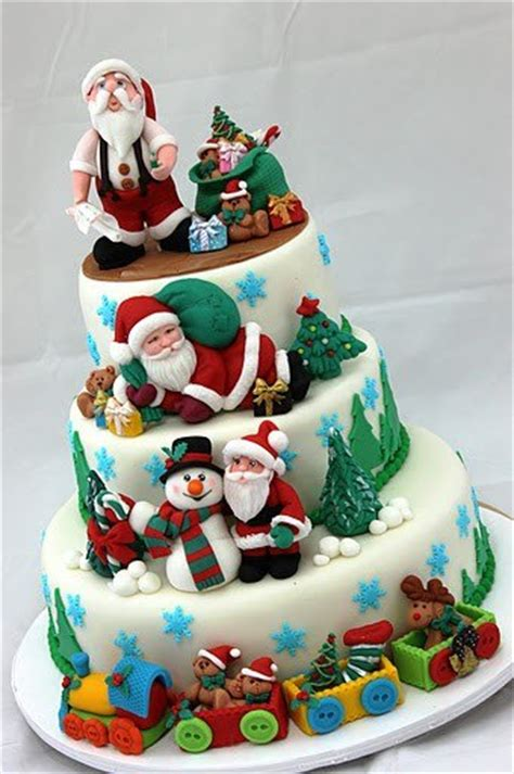 christmas cake decoration ideas images